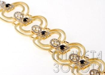 Золотой браслет королевская роскошь | женские