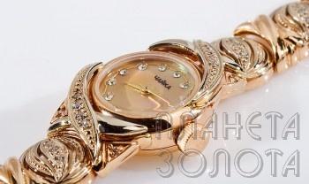 купить золотые часы с браслетом мужские