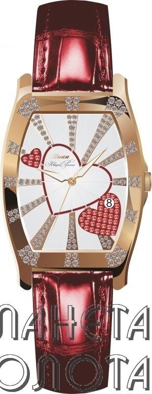 Золотые часы с золотым браслетом. A-Watch