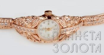 Часы 44350-2.507 - женские золотые часы an-44350