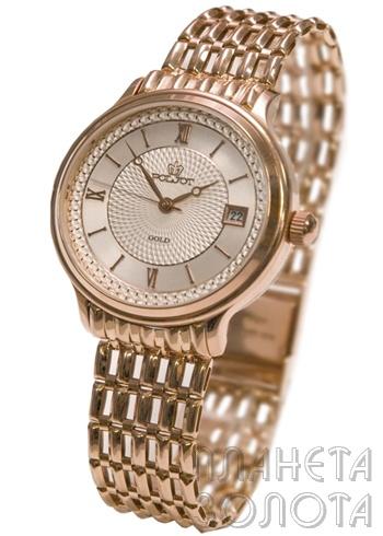 полёт часы женские золотые 22 камня
